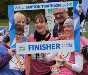 "Health visitors take on ""tough"" triathlon"