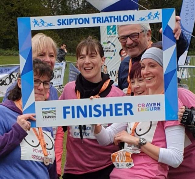 "Health visitors take on ""tough"" triathlon"