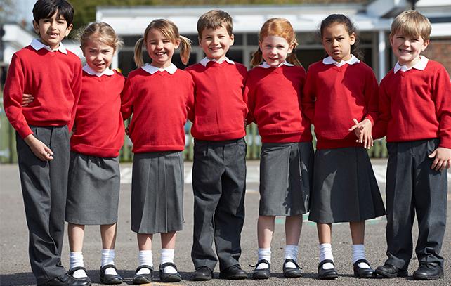 Fundraising schoolchildren