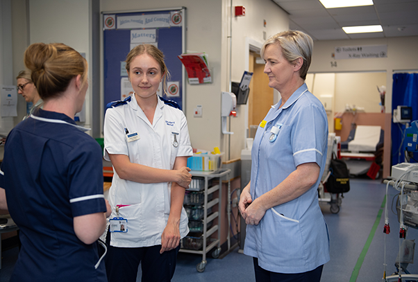nurses talking