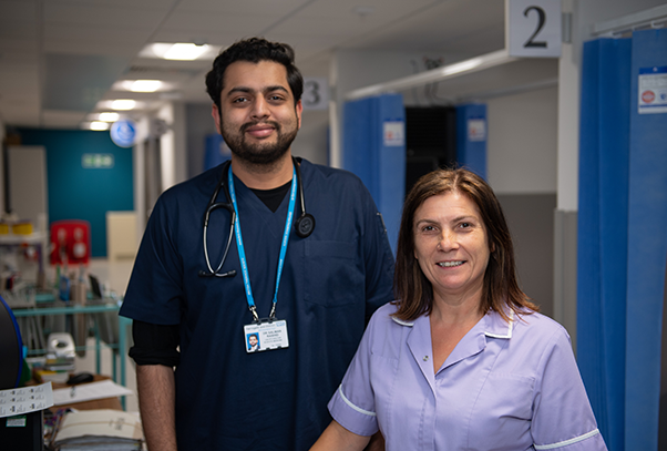 nurse and healthcare assistant