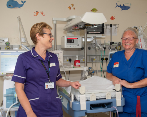 Nurses laughing