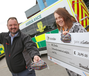 Bus firm's colourful face coverings raise over £2,400 for NHS Charities – with more to come
