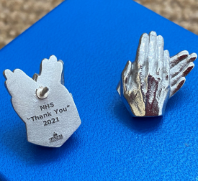 Valued Porter's hands featured on new NHS Thank You pin